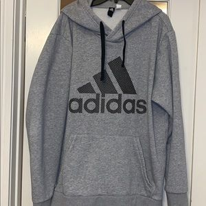 ADIDAS Heather Gray Hoodie with front Pocket